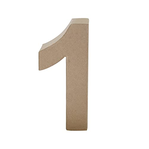 Papier Mache Number 1, Brown