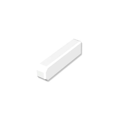 INTERDECO Endkappen/Enddeckel Weiß für Gardinenschiene 1- und 2-läufig Slimline (2 Stück)