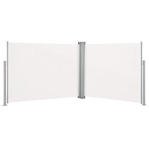 FAMIROSA Ausziehbare Seitenmarkise Creme 170 x 1000 cm