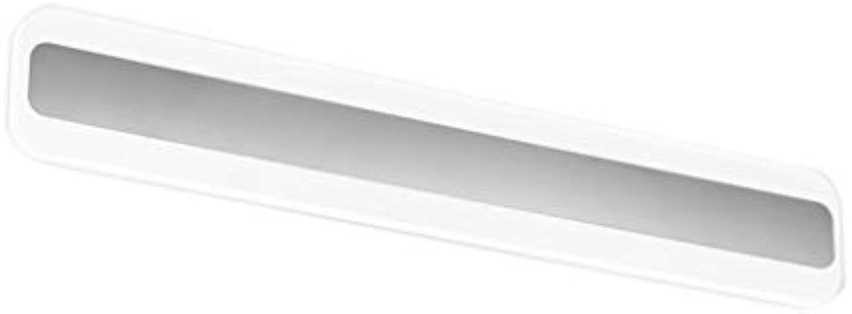 ALYR LED Spiegellampen FüR Das Bad, Edelstahl Block Spiegel Frontleuchte FeuchtigkeitsBestendig Spiegelleuchten Wandleuchten - Cool Weiß,14w 40cm