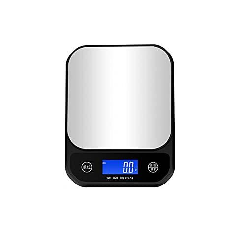Tangrenlincfc Bilancia Cucina Escala de Cocina Digital, Acero Inoxidable, Adecuado para Cocina, tamaño: 16 cm * 21 cm, 1 PCS