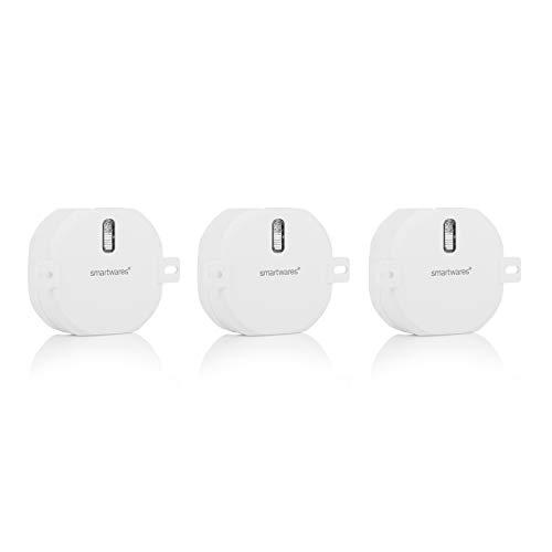 Smartwares Funk-Einbauschalterset für Rollladen – 3-teilig – Plug & Connect – Max. 300 W – SH4-99559