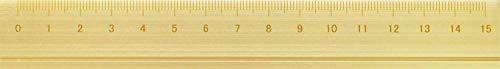 アルミルーラーS 定規 線引き シンプル 0cm表記付き カッター定規 ギフト 15cm アルミ製 ゴールド DAR-2802 スリップオン