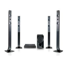 LG HX966TZW 5.1 3D Blu-ray-Heimkinosystem (HDMI, Upscaler 1080p, DLNA, WLAN-Ready, Apple iPod-Anschluss, 180 Watt, USB 2.0) schwarz
