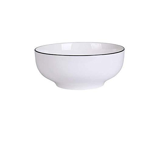 ShiSyan European Nordic Household Ceramic Tableware Simple Black Black Cutlery Plate White E 8 Inch