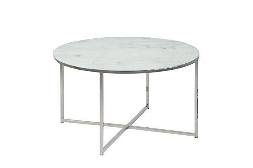 Amazon Brand - Movian Rom - Mesa de centro, 80 x 80 x 45 cm, blanco
