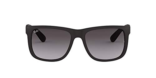Ray-Ban Unisex-Adult RB4165 Justin Sunglasses, Black Rubber/Grey Gradient, 51 mm