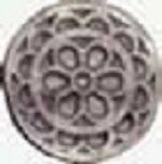 DOMUS KITS-Rosace Roseton lino (sachet de 3) - 17 mm