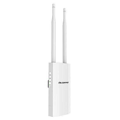 COMFAST enrutador de WiFi para Exteriores 1200Mbps de Banda Dual 5G Router de Alta Potencia Punto de Acceso para Exterior Router WiFi inalámbrico IP66 Impermeable para Uso Doméstico O Comercial