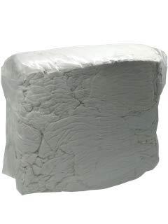 Industrieputzlappen Frottee weiß, 10 kg Würfel, saugstarke Baumwollputzlappen, Putztücher, geschnitten nach DIN 61650