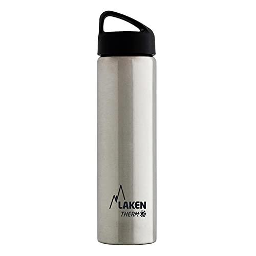 Laken Borraccia Termica Thermo Classic Bottiglia d'Acqua Isolamento sottovuoto Acciaio Inossidabile Bocca Larga - 750ml, Argento