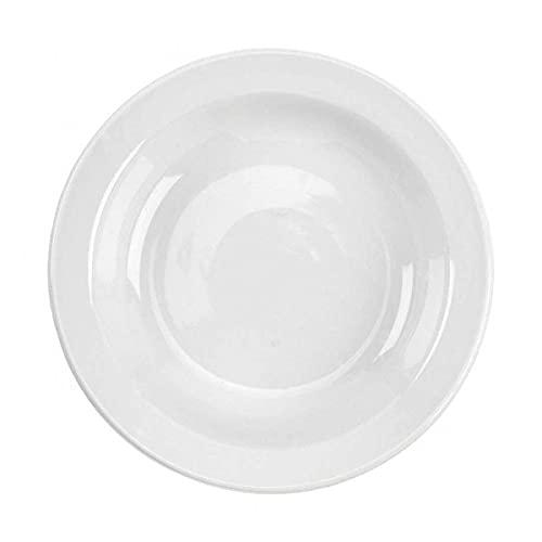 Tognana 20 x 4 cm-Porcelaine-Assiette à Soupe Blanc cassé