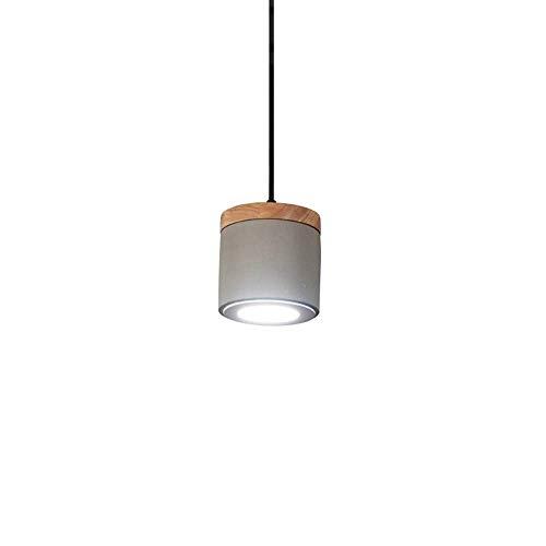 QTRT Creative Loft Oak - Lámpara de Techo Industrial, Vintage, Minimalista, Cemento,...