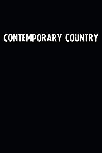 Contemporary Country: Blank Lined Notebook Journal With Black Background - Nice Gift Idea