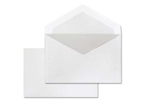 Deutsche Post 25 Umschläge C6 weiß nassklebend ohne Fenster