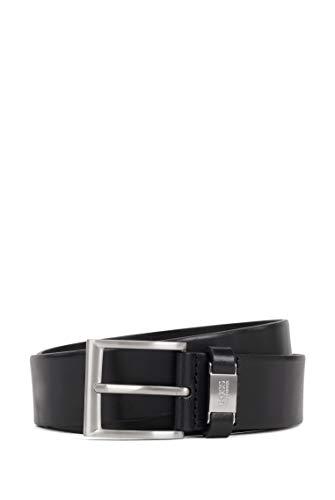 BOSS Herren Connio Ledergürtel mit Metall-Logo an der Schlaufe