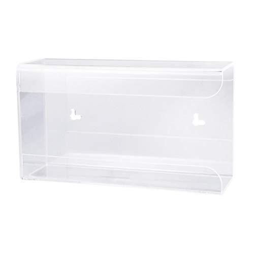 UKCOCO dispensador de guantes – Soporte de caja de dispensador de guantes desechable de pared, soporte de caja de guantes de acrílico transparente para el almacenamiento