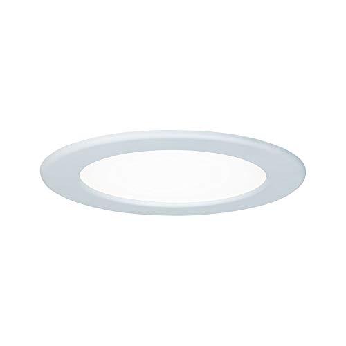 Paulmann 92059 Einbaupanel LED rund Deckenleuchte 12W Licht 4000K Neutralweiß LED Panel Weiß IP44 spritzwassergeschützt inklusive Leuchtmittel