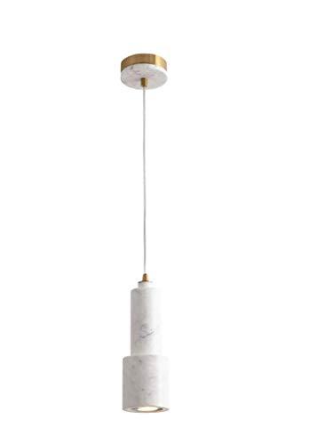 Marmor Hängeleuchte Postmodern Hardware Zylindrisch Pendelleuchte E27 Lampenfassung Pendellampe Minimalistische LED Lampenschirm Kronleuchter Esstischlampe Einzelkopf...