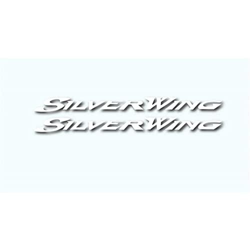 Moto Paraserbatoio Autoadesivi per moto Autoadesivi impermeabili riflettenti Autoadesivi carburante Decalcomanie Casco LOGO Per per Honda Silverwing Silver Wing 400 600 (Color : Reflective silver)