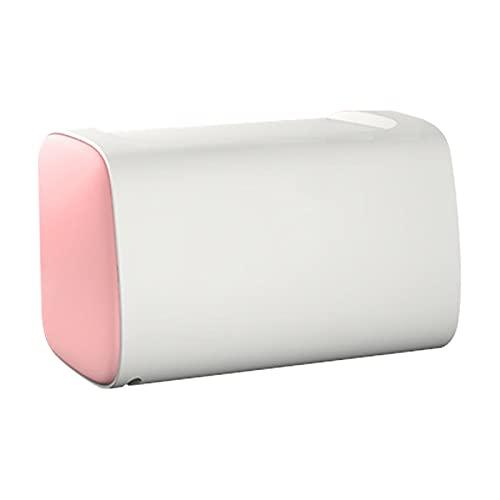 GYing Caja de Tejido de Inodoro Multifuncional de Inodoro Montado en la Pared Perforado Perforado Impermeable a Prueba de Agua Caja de Bombeo Creativo,Rosado