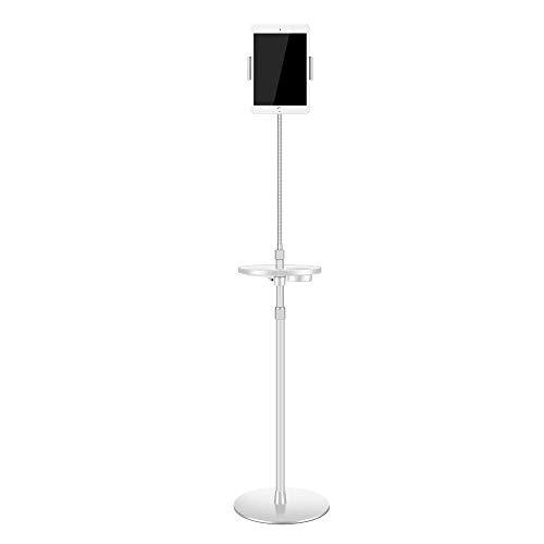 Ipad trípode de palo selfie de aleación de aluminio plateado, altura ajustable 68-173cm / 26.8-68.1in Soporte de piso para tableta ajustable en altura para Ipad, Ipad Mini y otros dentro de 7-10 pulga