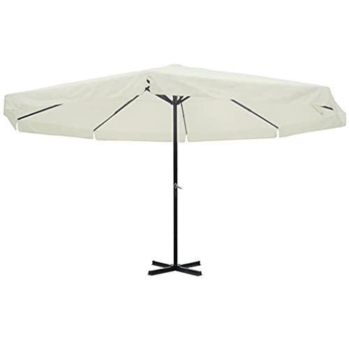 Famehours Parasol Blanco Aluminio 500 cm