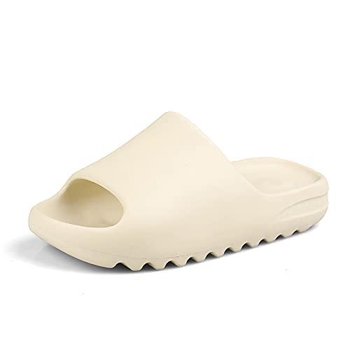 NISHIWOD Zapatillas Casa Chanclas Sandalias Diapositivas para Hombre Zapatillas De Playa Frescas Y Transpirables Chanclas con Boca De Pez Sandalias para Hombre Hueso Ligero 42 Beige