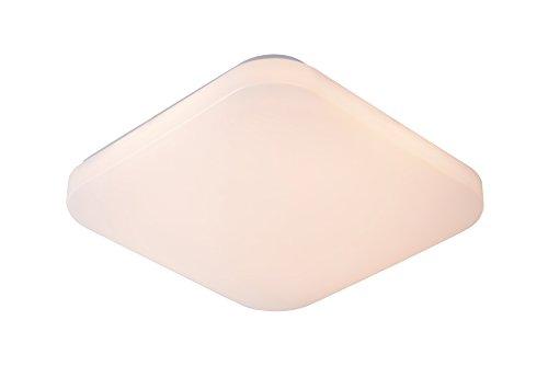 Lucide 79198/32/61 Otis Plafonnier, Texture, LED intégré, 32 W, Opalin, 33 x 33 x 6,5 cm