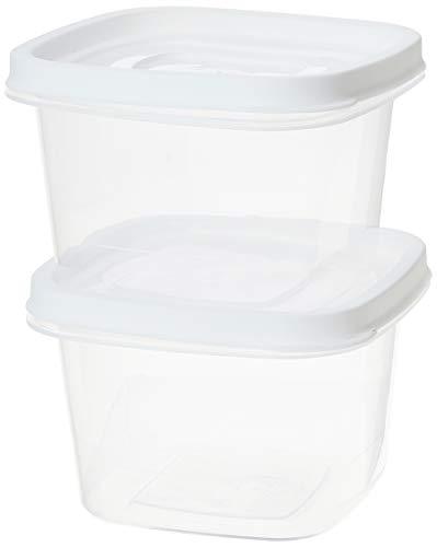 Conjunto de Potes Quadrados com 2 Unidades, Plasútil, Branco
