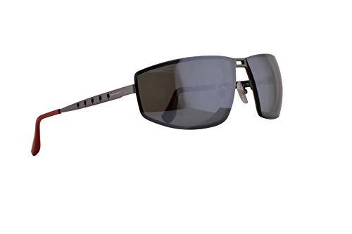 Chopard SCHB02M Sonnenbrille Gunmetal Rot Mit Polarisierten Grauen Verspiegelt Silbernen Gläsern 68mm 8G3P SCH B02M SCHB 02M