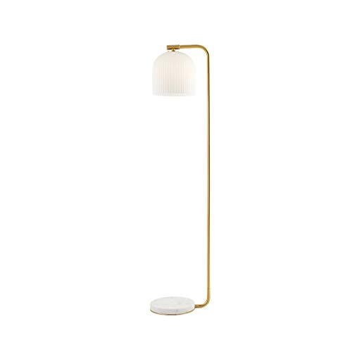 Staande Lamp Living Room Bedside Vertical Leeslamp Slaapkamer Nordic Warm klassieke decoratie Lamp Simple Modern Floor Light LED (Color : Gold, Size : 25cm*150cm)