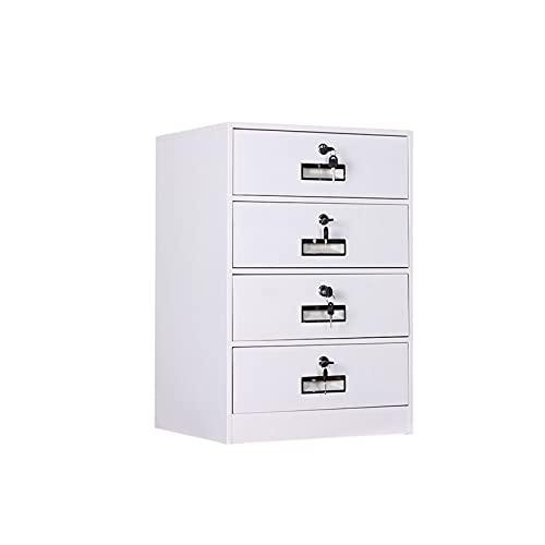 XYJHQEYJ Gabinetes de archivo de oficina Gabinete de metal 4 capas Armario de archivos con cajones de bloqueo Cajas de archivos de almacenamiento Armacizadores para el hogar Mueble de cierre de oficin