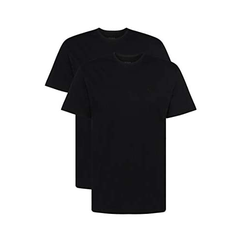 BOSS Hugo Boss T-Shirt RN 2P CO, T-shirt Uomo, Nero (Black), Large