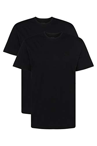 BOSS T-shirt Rn 2p Co Camiseta, Negro (Black 1), Medium (Pack de 2) para Hombre