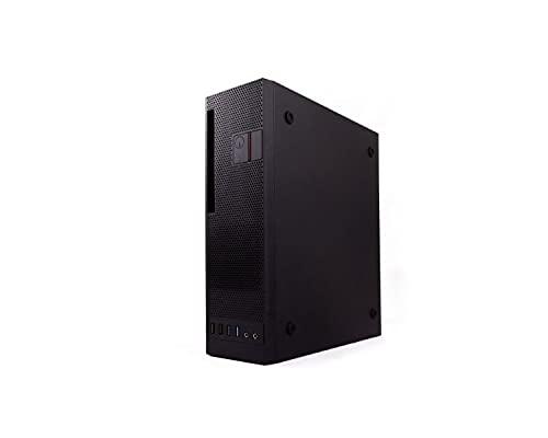 CoolBox T-360 - Caja Micro ATX y Mini ITX para PC, Formato Slim, USB3.0, Fuente de alimentación 300SBZ TFX 80 Plus Bronze. Colocación Horizontal o Vertical