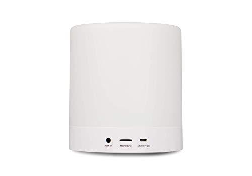 BLAUPUNKT BTL 100 Bluetooth Lautsprecher mit LED Ambiente-Licht für kabelloses TV/PC/Handy-Streaming weiß