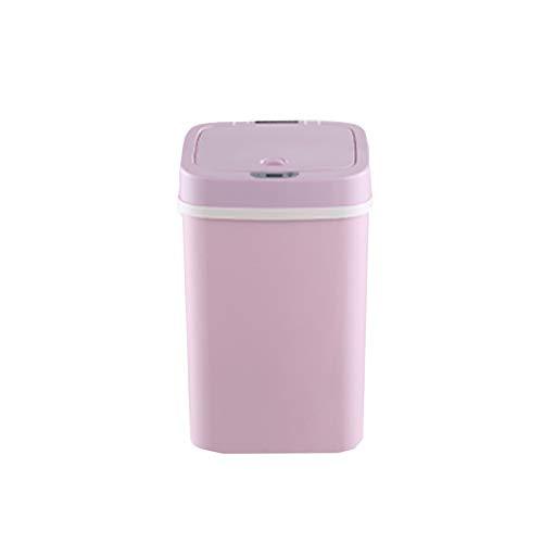 DUTUI Bote De Basura De Pañal Desodorante con Sensor Inteligente, Cubo De Procesamiento De Pañales para Bebés, Contenedor De Almacenamiento De Desodorante, Bote De Basura Desodorante,Rosado