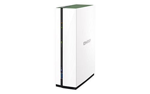 QNAP TS-128A NAS Mini Tower Ethernet LAN White storage server - NAS & Storage Servers (HDD, Serial ATA III, 3.5', FAT32,HFS+,NTFS,ext3,ext4, 1.4 GHz, Realtek)