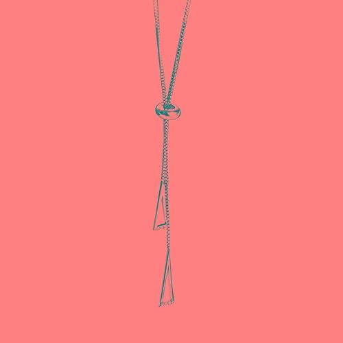 ShSnnwrl Collar Nuevo Collar de triángulo geométrico de Plata de Ley 925 para Mujer, Cadena de clavícula Ajustable, Cadena de suéter, Caden