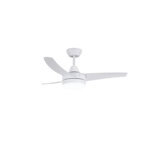 Ventilador de techo con luz LED y mando a distancia - Formentera color Blanco- 18W y 107cm de diámetro- Artepal Iluminación