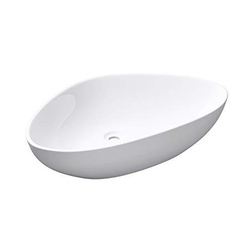 Mai & Mai: Aufsatzwaschbecken, weiß, Keramik, mit Nano-Beschichtung, Brüssel895