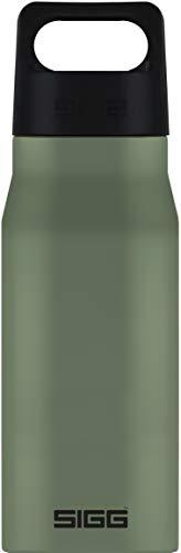 SIGG Explorer Leaf Green Botella metálica (0.75 L), cantimplora hermética sin sustancias nocivas, resistente botella de acero inoxidable que no altera los olores