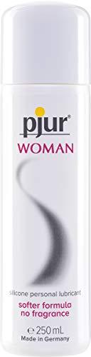 pjur WOMAN - Gleitgel für Frauen auf Silikonbasis - für prickelnden Sex und längeren Spaß - optimal für empfindliche Haut (250ml)