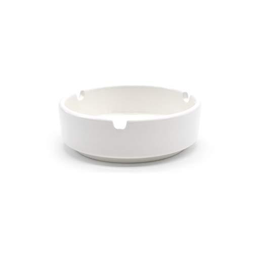 takestop POSACENERE Ceramica Bianco Set 4 Pezzi Tondo 8.5x2.5 Cm PORTACENERE Sun_3169 Posa Cenere Porta Cenere Rotondo