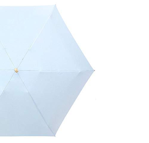 Keai Faltbarer Regenschirm, ultraleicht, Mini-Regen, doppelter Verwendungszweck, schwarzer Gel-Sonnenschutz, UV-Schutz, 56 x 98 cm