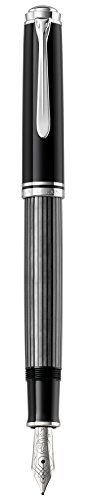 Pelikan Premium M405Stresemann Füllfederhalter, Spitze B 1,9x 14,3x 1,9cm schwarz/grau