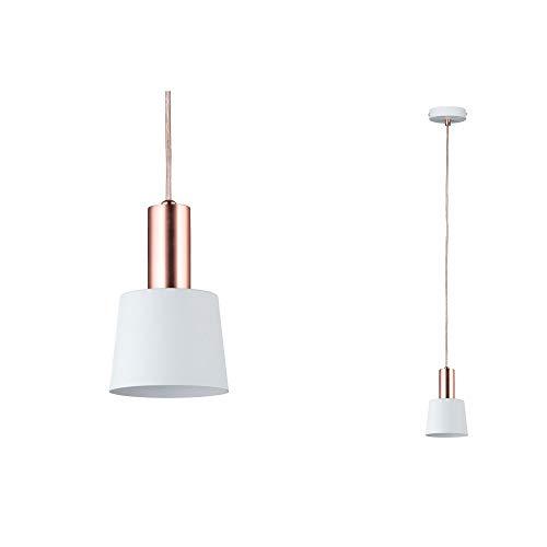Paulmann 79656 Neordic Haldar Pendelleuchte max. 1x20W Hängelampe für E14 Lampen Deckenlampe Weiß/Kupfer matt 230V Metall ohne Leuchtmittel
