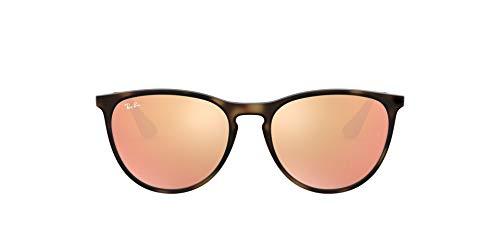 Ray-Ban Unisex 9060s Sonnenbrille, Mehrfarbig (Gestell: Havana/Gunmetal, Gläser: Kupfer Verspiegelt 70062Y), Medium (Herstellergröße: 50)