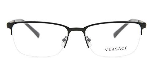 Versace 0VE1263 Monturas de gafas, Matte Black, 55 para Hombre